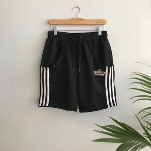Black Adidas 3 Stripes Athletic Shorts
